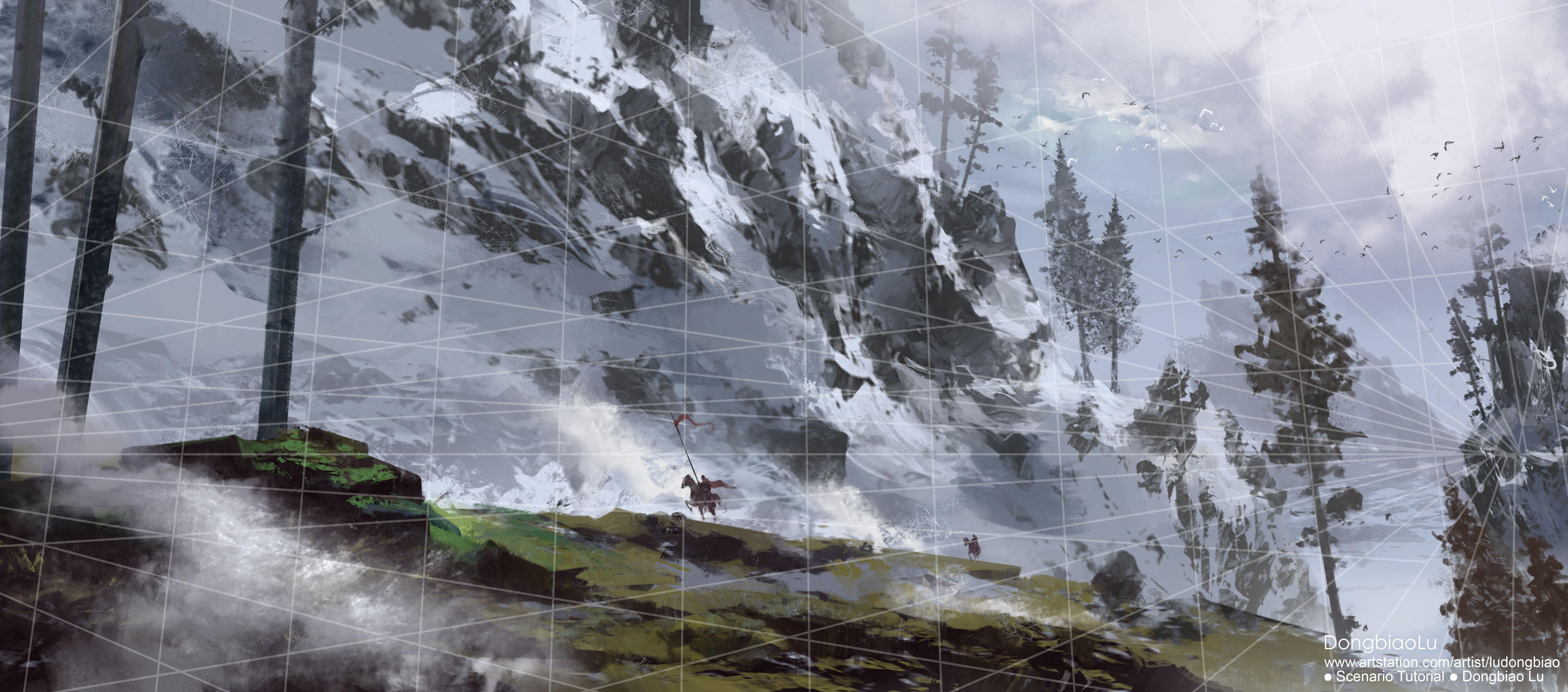 速成雪山-步骤图(无贴图素材)