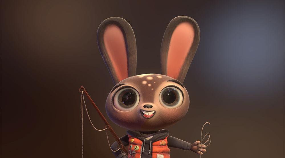 可爱兔子的3d建模教程