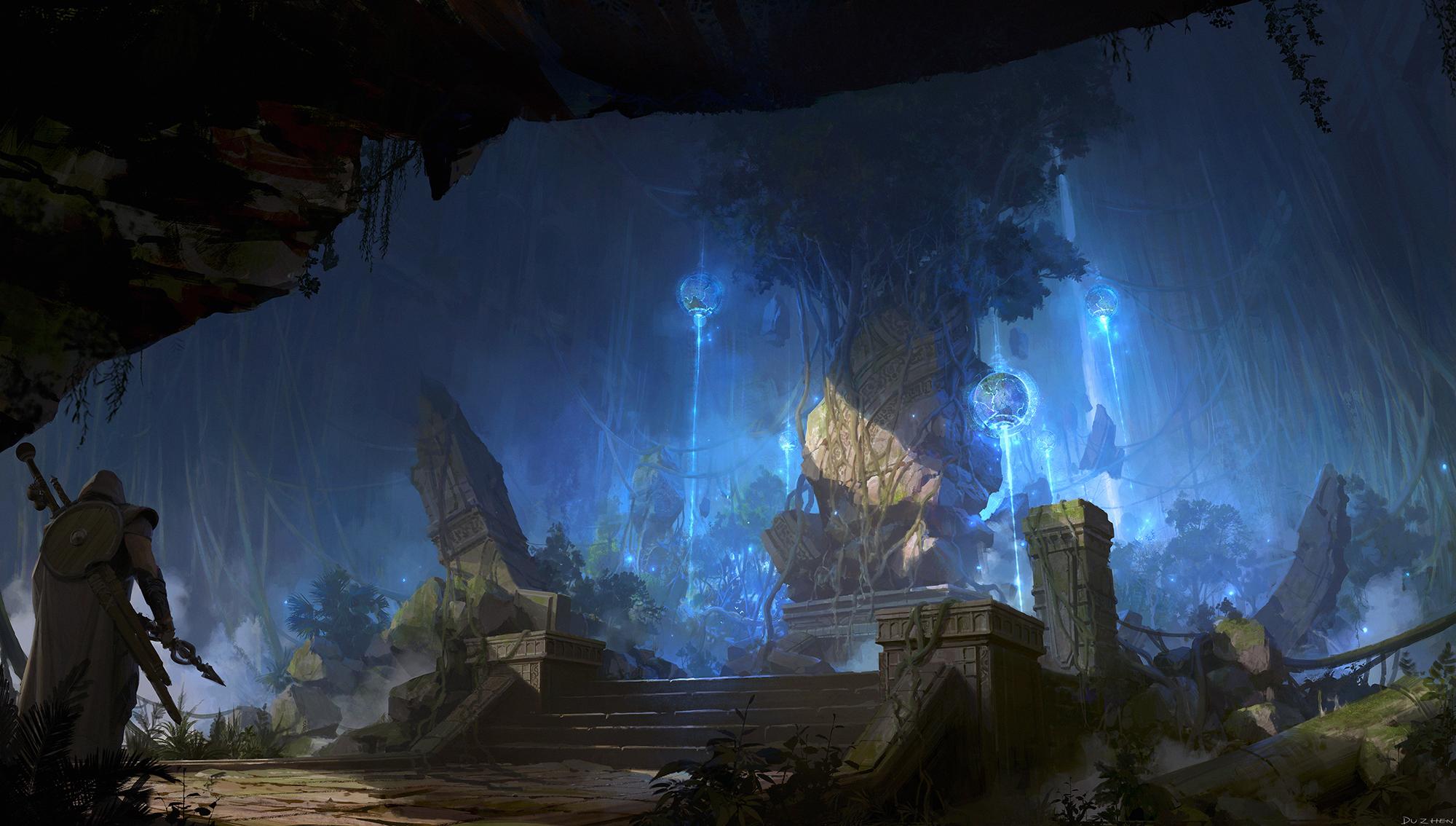 杜震-游戏原画气氛图-《圣木之源》