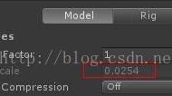 Unity3d导入3dmax后model的缩放为0.0254的原因以及解决办法