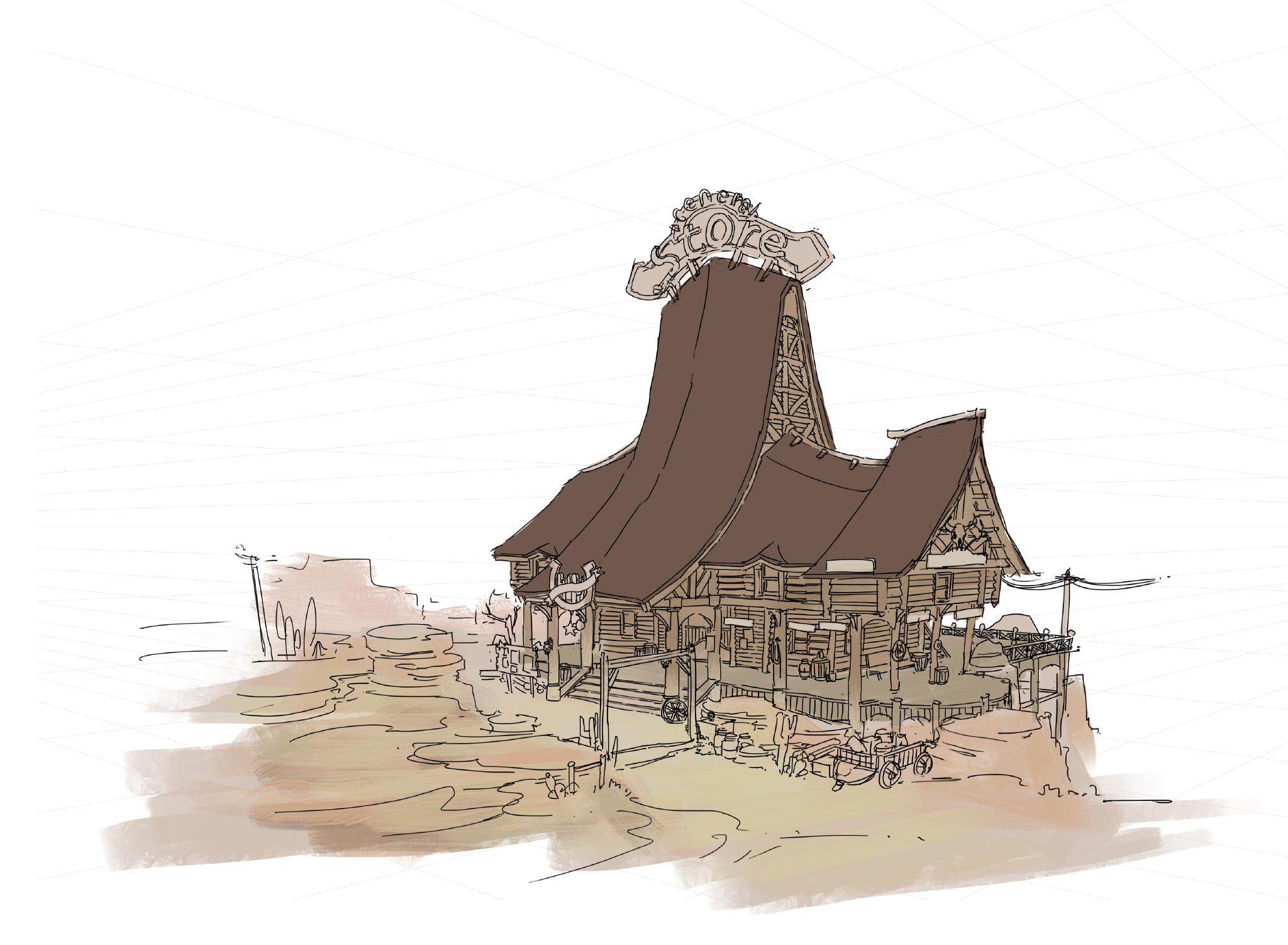 杜震 课范混合建筑设计《STORE》附高清步骤图