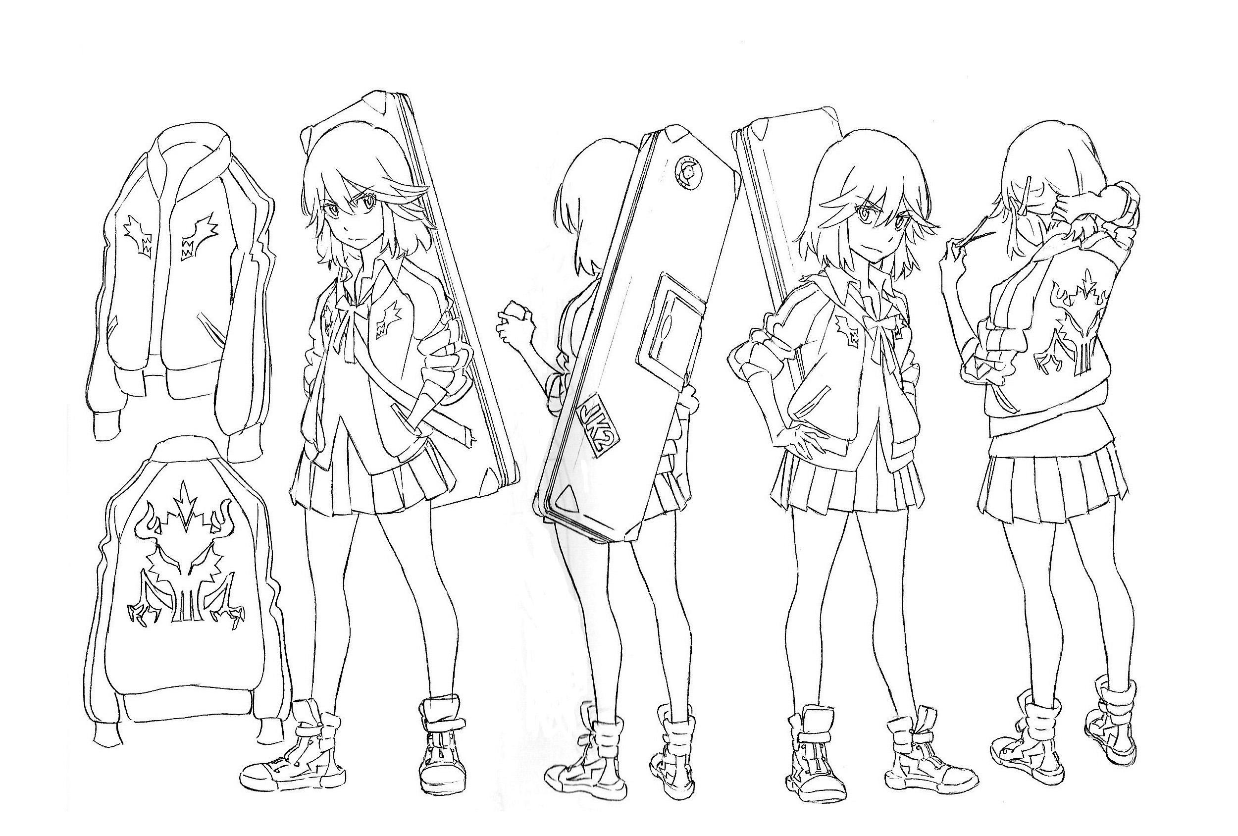 穿水手服的战斗美少女了解一下 《斩服少女:异布》角色设定赏析29