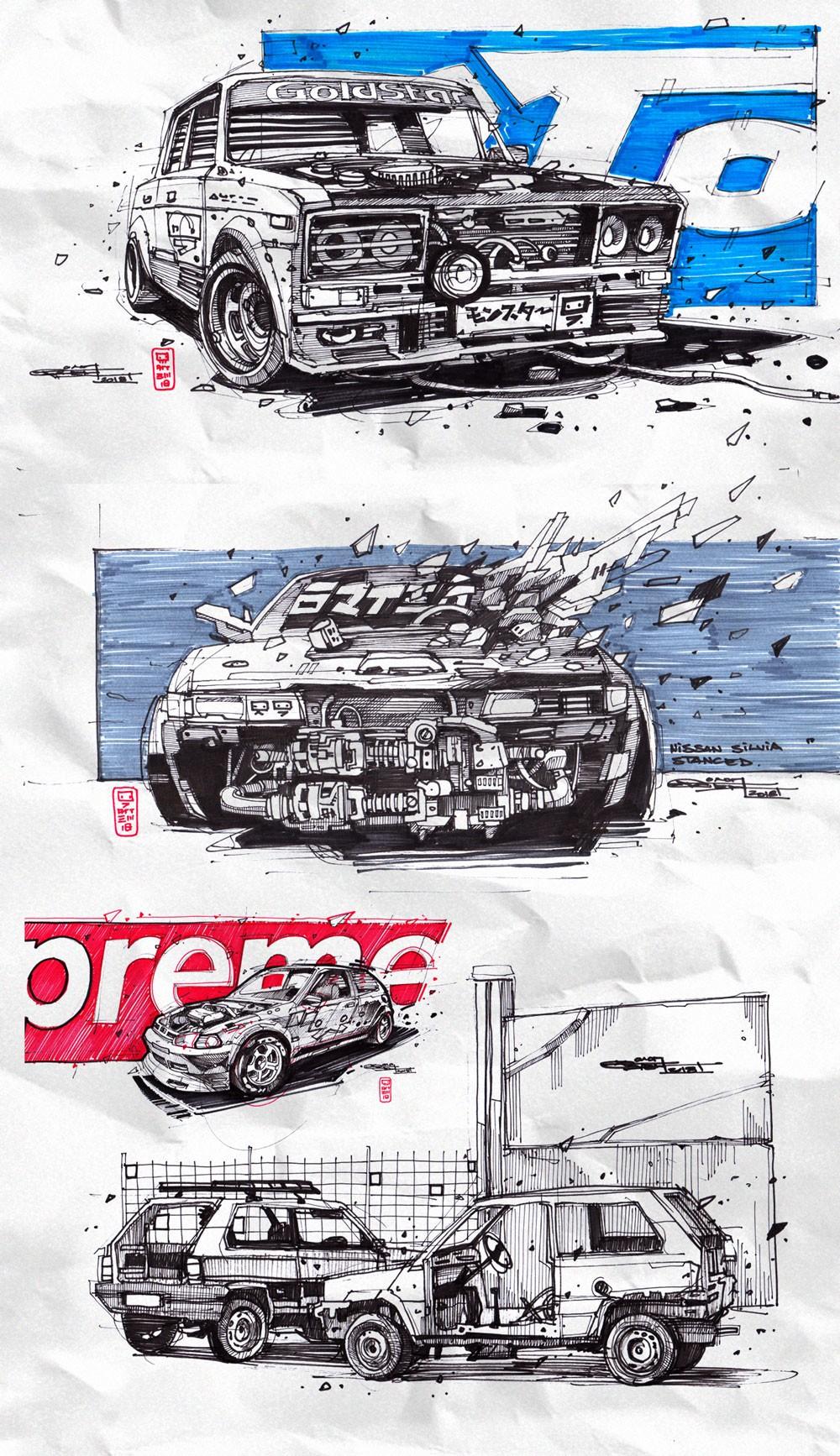 绚丽的涂鸦丨概念原画师Artem Solop作品3