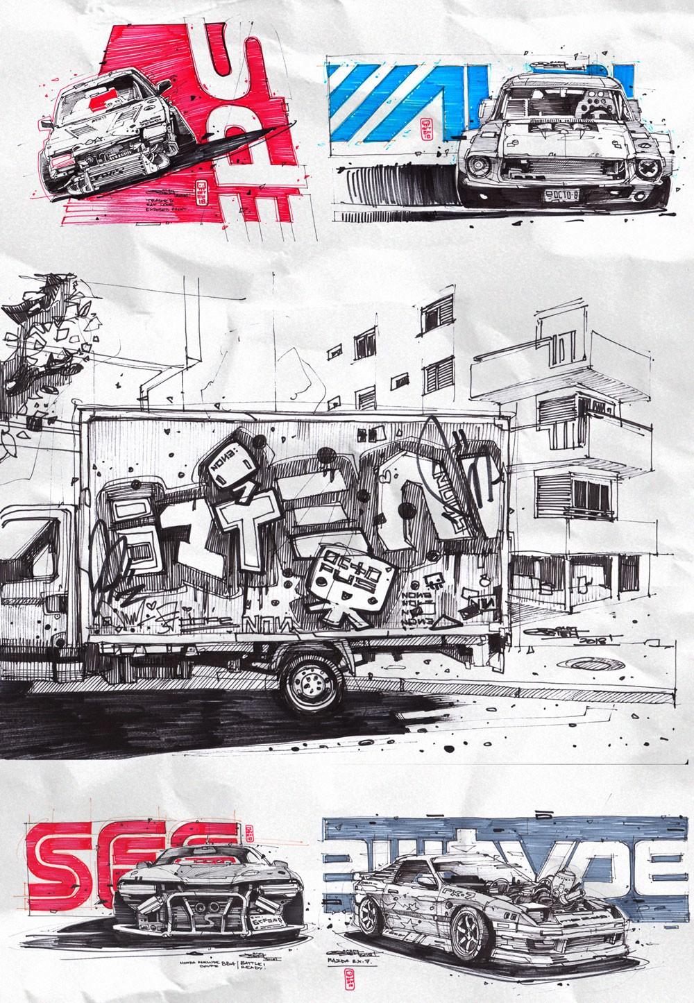 绚丽的涂鸦丨概念原画师Artem Solop作品2