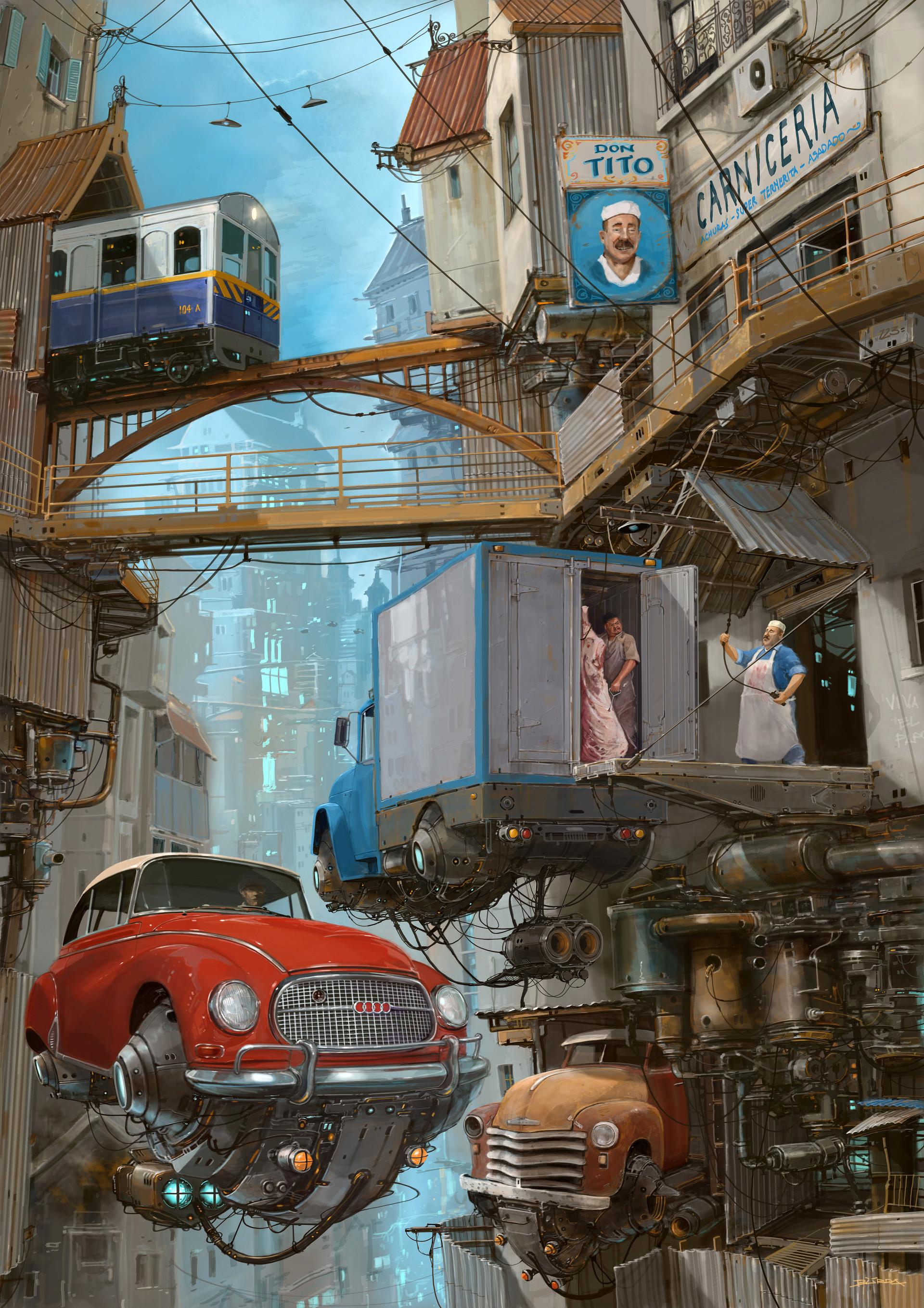 复古的未来主义 Alejandro Burdisio作品欣赏38