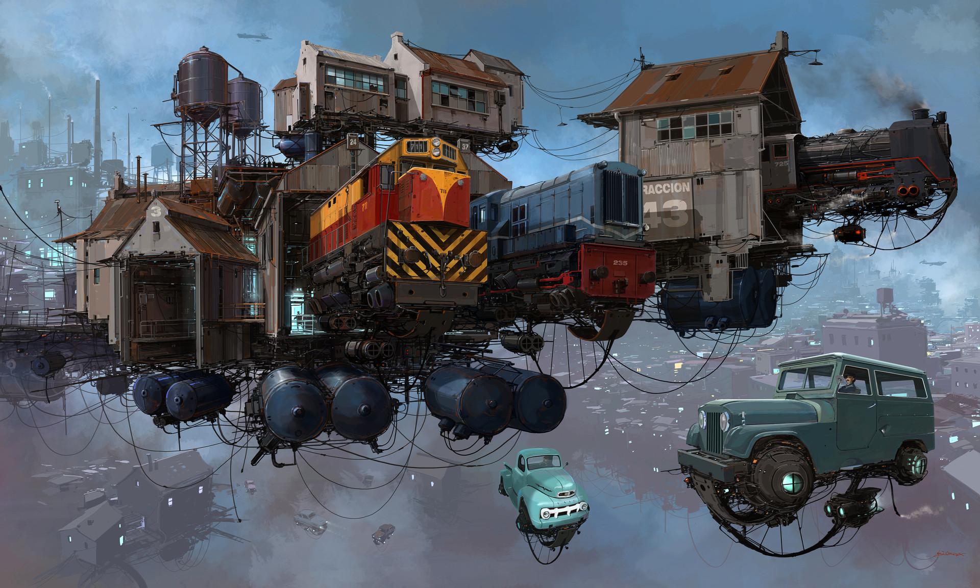 复古的未来主义 Alejandro Burdisio作品欣赏4
