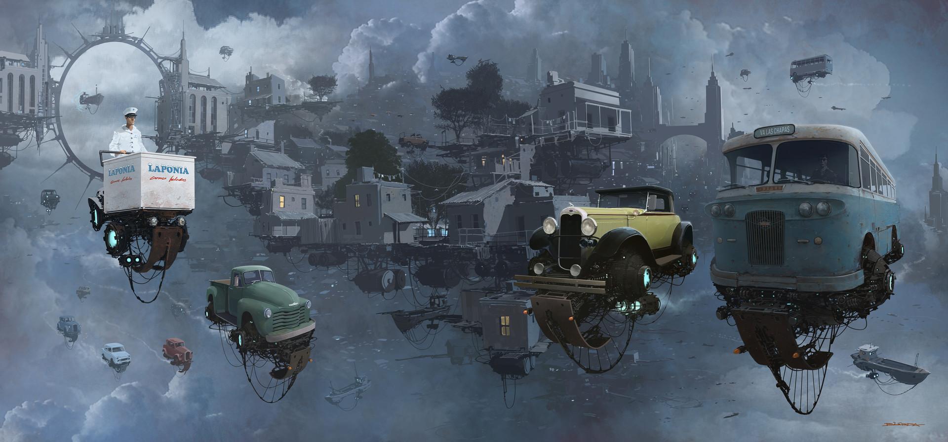 复古的未来主义 Alejandro Burdisio作品欣赏2