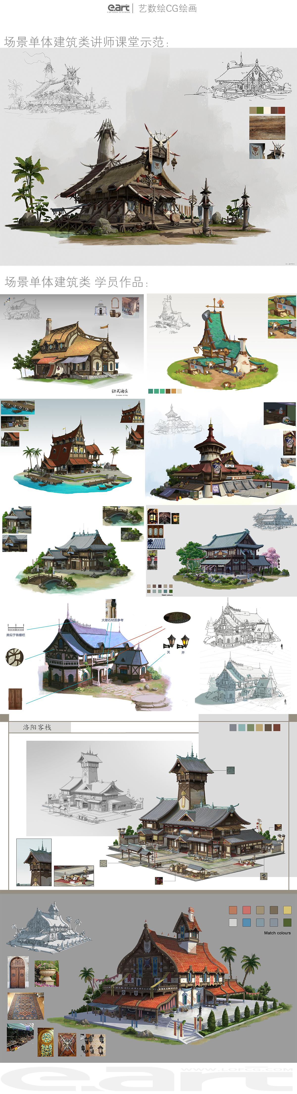 杜震授课-学员作品单体建筑设计1