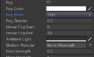 Unity里的雾效模拟详解