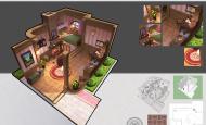 游戏室内解剖 粉红小女孩室内房设计