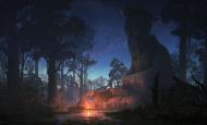 杜震-《露营》场景气氛图练习